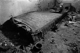 Homeless bed. ZABRZE BISKUPICE 2006