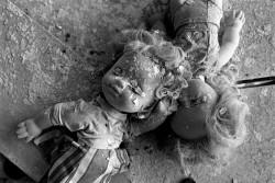 "Decaying dolls in nursery ""Little Bear"" in town Pripyat"