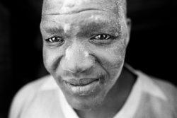 Portrait of the man from limestone factory in Khor Shambat. Omdurman 2018